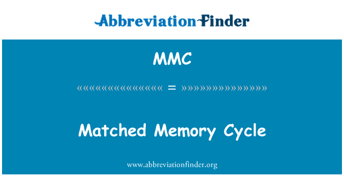 MMC: Matched Memory Cycle