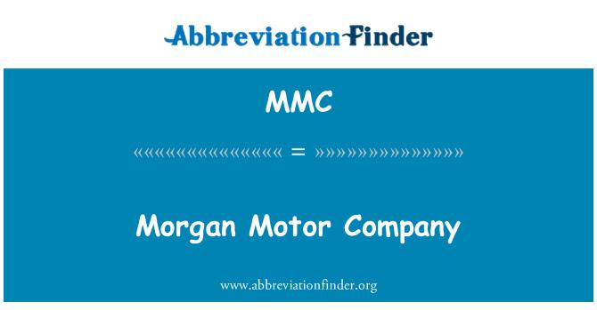 MMC: Morgan Motor Company