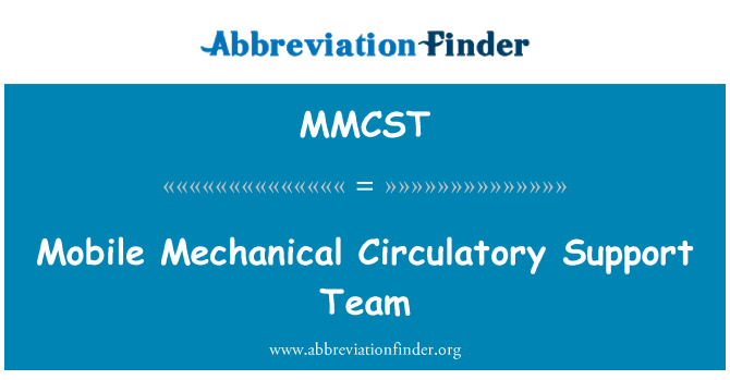 MMCST: Mobile Mechanical Circulatory Support Team