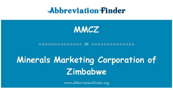 MMCZ: Minerales de Marketing Corporation de Zimbabwe