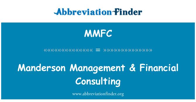 MMFC: Manderson gestión & consultoría financiera