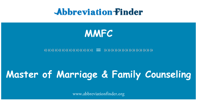 MMFC: Master of Marriage & Family Counseling