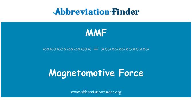 MMF: Magnetomotive Force