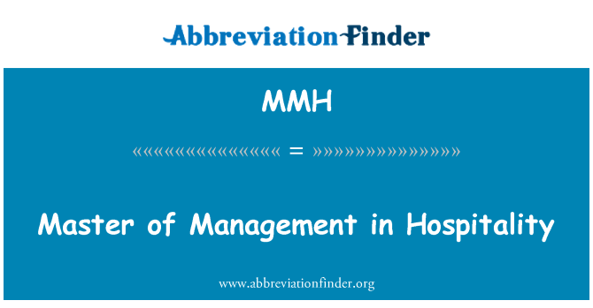 MMH: Master of Management in Hospitality