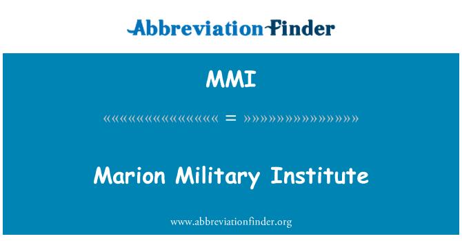 MMI: Marion Military Institute