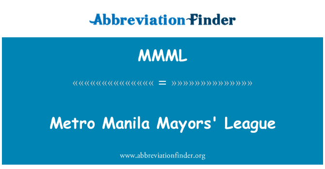MMML: Metro Manila linnapead liigas