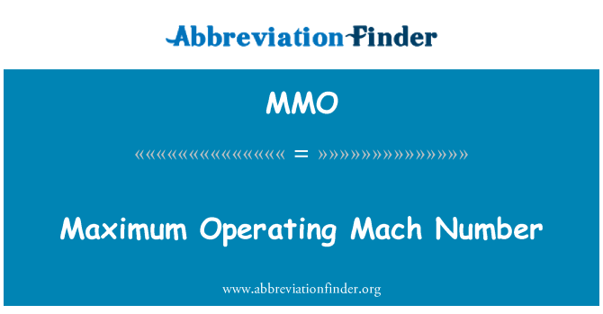 MMO: Maximum Operating Mach Number