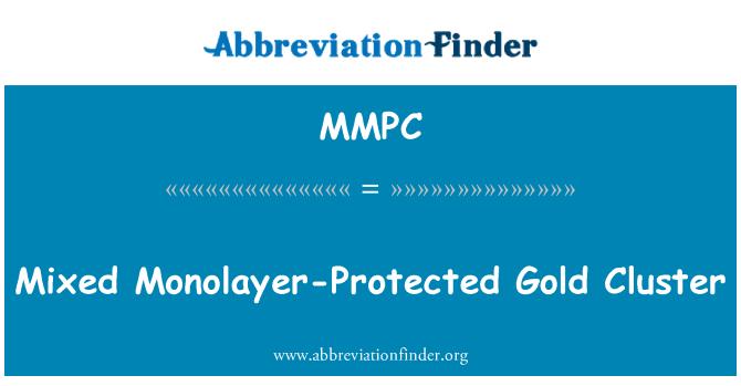 MMPC: Bercampur dilindungi Monolayer emas Kluster