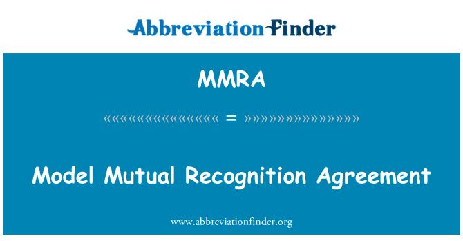Mmra Definition Model Mutual Recognition Agreement Frkortningen