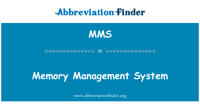 MMS: Memory Management System