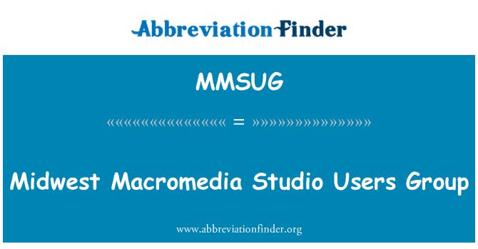 MMSUG: Midwest Macromedia Studio Users Group