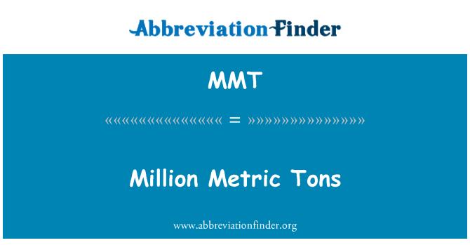 MMT: Million Metric Tons