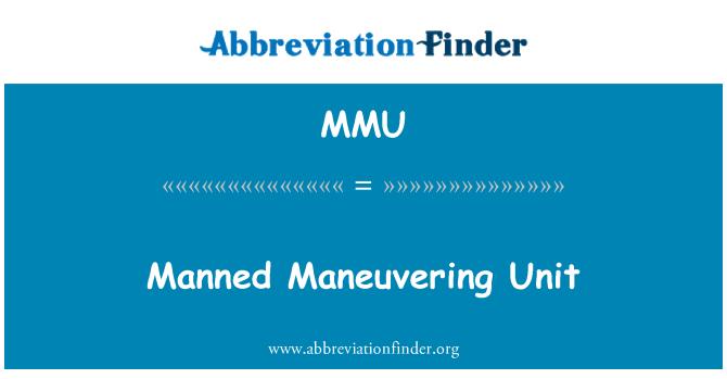 MMU: Manned Maneuvering Unit