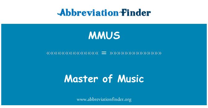MMUS: Mojster glasbe