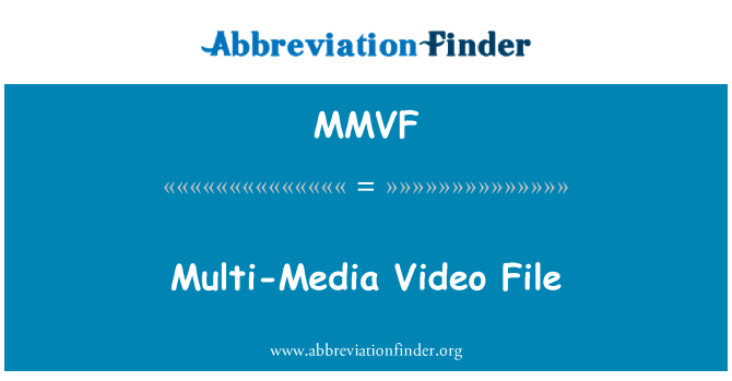 MMVF: Multi-Media Video File