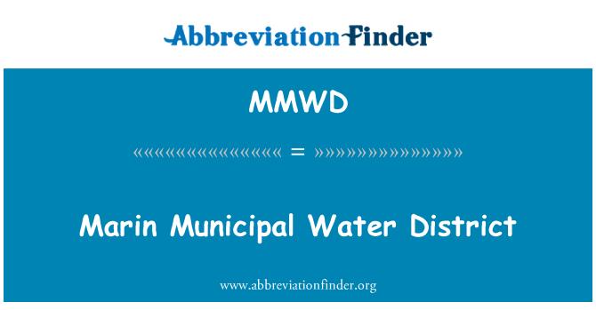 MMWD: Marin Municipal Water District