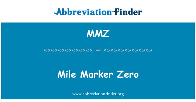 MMZ: Mile Marker Zero