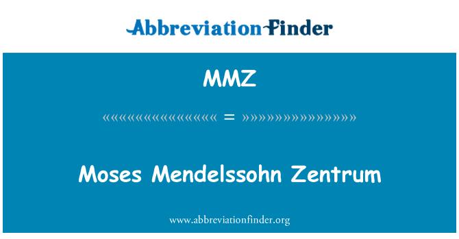 MMZ: Moses Mendelssohn Zentrum