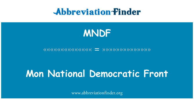 MNDF: Mon National Democratic Front
