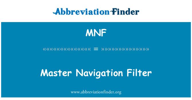 MNF: Master Navigation Filter
