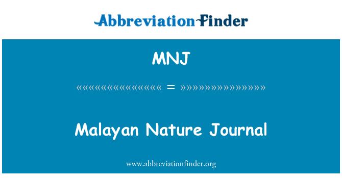 MNJ: Malayan Nature Journal