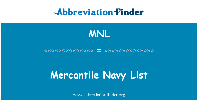 MNL: Mercantile Navy List