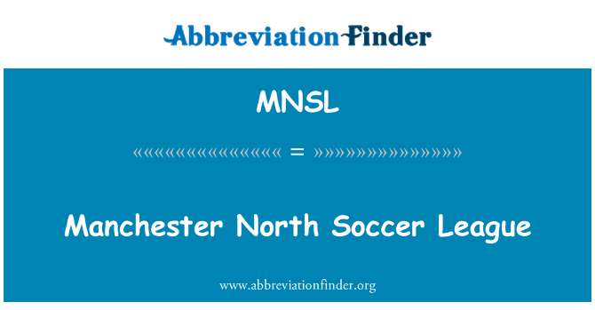 MNSL: Manchester North Soccer League