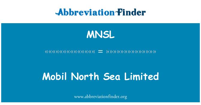 MNSL: Mobil North Sea Limited