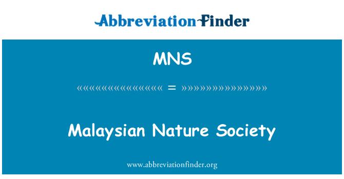 MNS: Malaysian Nature Society