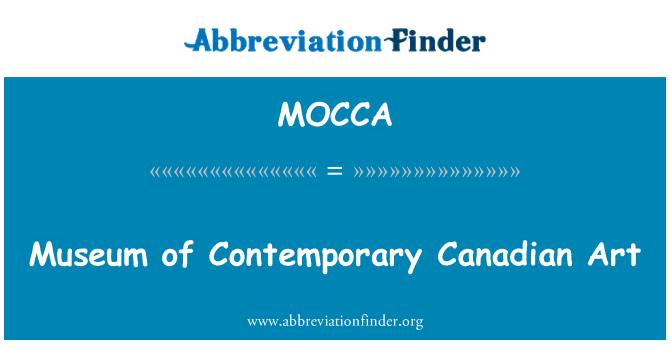 MOCCA: Museo de arte contemporáneo de canadiense