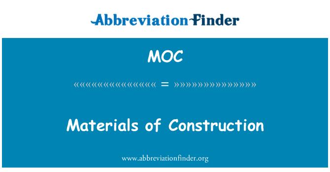 MOC: Materials of Construction