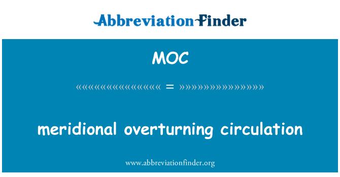 MOC: meridional overturning circulation