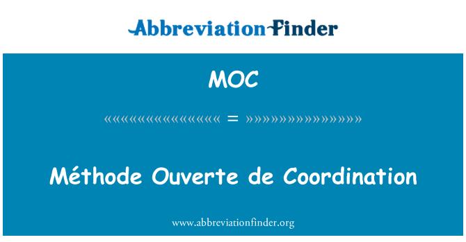 MOC: Méthode Ouverte de Coordination