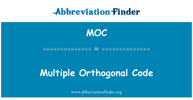 MOC: Multiple Orthogonal Code