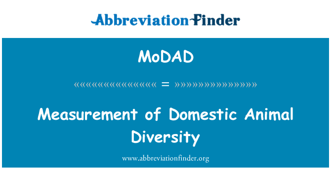 MoDAD: Measurement of Domestic Animal Diversity