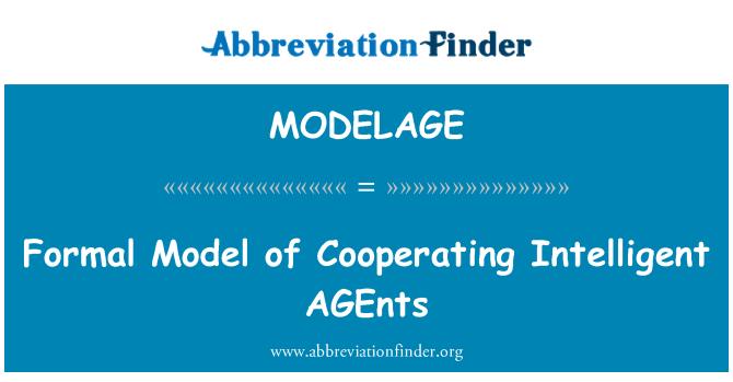 MODELAGE: Formal Model of Cooperating Intelligent AGEnts