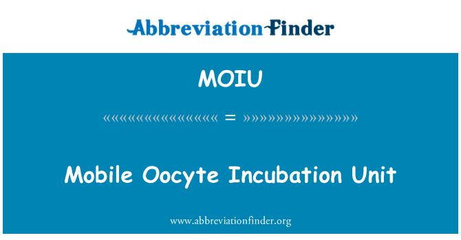 MOIU: Mobile Oocyte Incubation Unit