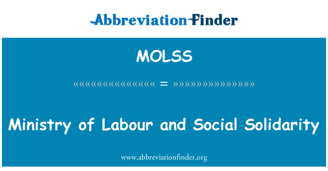 MOLSS: Ministry of Labour and Social Solidarity