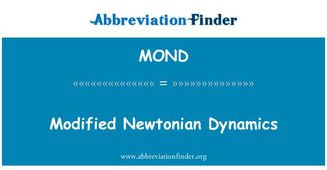 MOND: Dinámica newtoniana modificada