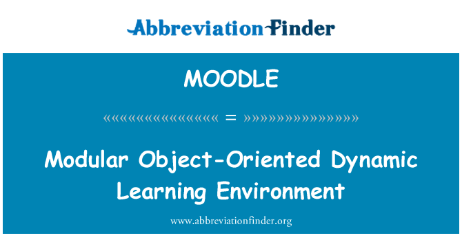 MOODLE: Modulaire Object-Oriented Dynamic leeromgeving