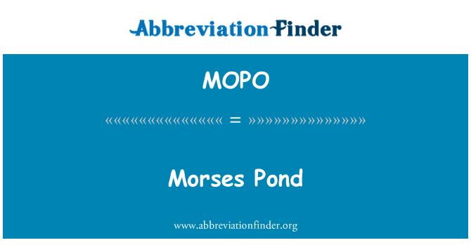 MOPO: Morses tiik
