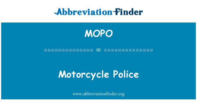 MOPO: Mootorratta politsei