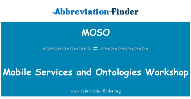 MOSO: Mobilní služby a ontologie Workshop