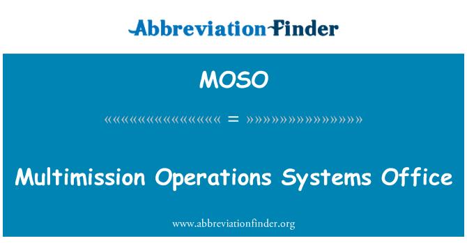 MOSO: Multimission operacije sustava Office