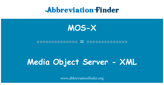 MOS-X: Media Object Server - XML