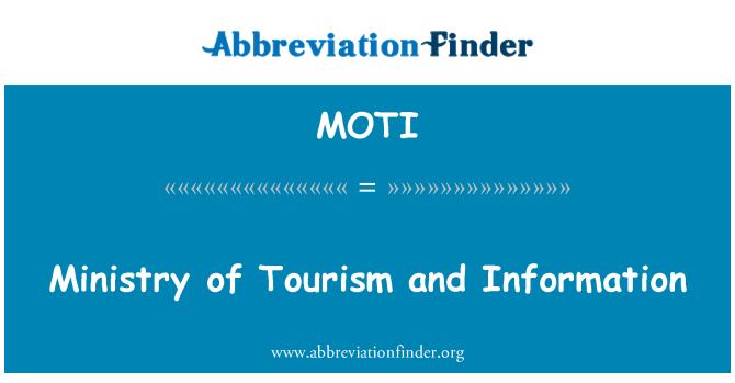 MOTI: Ministerio de Turismo e información