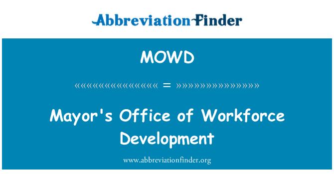 MOWD: Mayor's Office of Workforce Development