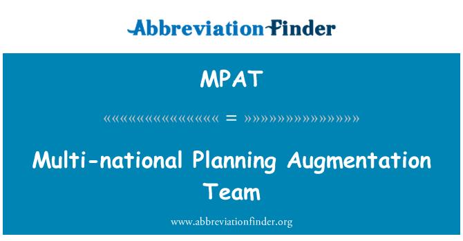 MPAT: Equipo planificación multinacional del aumento