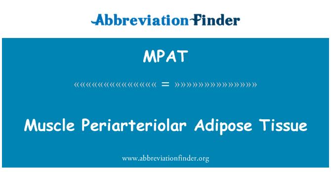 MPAT: Tejido adiposo Periarteriolar