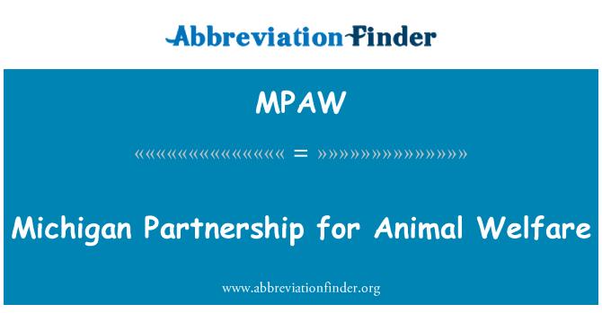 MPAW: Michigan Partnership for Animal Welfare